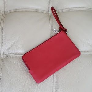 Coach Bags - Coach Double Zip Pebble Leather Wristlet Wallet